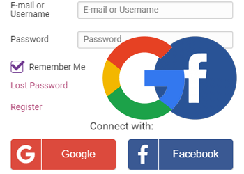 Google login + Facebook login
